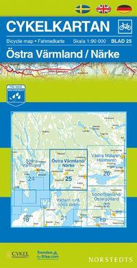 Norstedts Sykkelkart Ark 25 Vestre Värmland/Närke