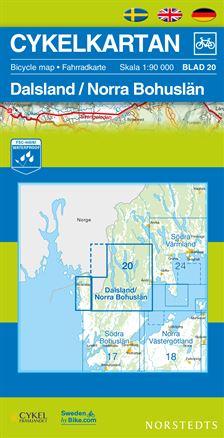 Norstedts Sykkelkart Ark 20 Dalsland/Norra Bohuslän