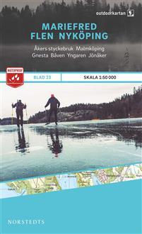 Norstedts Ark 23 Mariefred-Flen-Nyköping 1:50 000