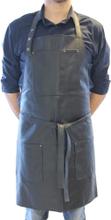 Læder forklæde sort skind