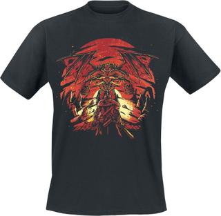 Dark Souls - 3 - Dragon -T-skjorte - svart