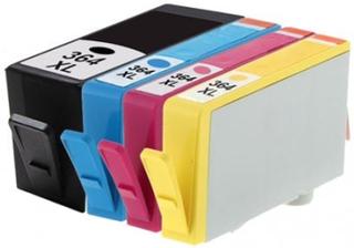 HP 364 XL Sampak 4 st. (1 st svart 24 ml och 1 st Cyan / magenta / gul 15 ml) SM596EE, kompatibel