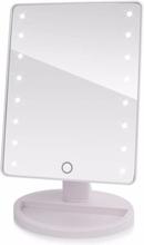 eStore Portabel Roterbar LED Sminkspegel, Batteri & USB driven - Vit
