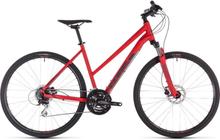 Cube Women's Nature Dam Hybridcykel Röd 46 CM