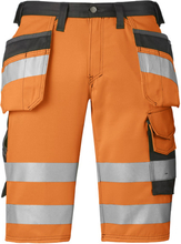 Snickers 3033 Shorts varsel, orange Strl 62