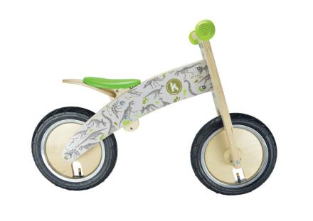 Kiddimoto Kurve Lapset potkupyörä , harmaa/vihreä 2017 Lasten kulkuneuvot