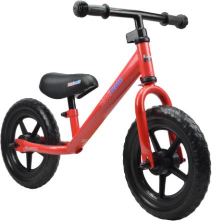 Kiddimoto Super Junior Lapset potkupyörä , punainen 2017 Lasten kulkuneuvot