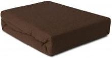 Prześcieradło Frotte z gumką czekoladowe 180x200