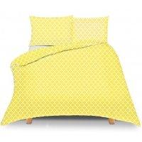 Pościel bawełniana Maroko żółte 160x200