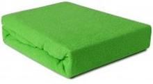 Prześcieradło Frotte z gumką zielona trawa 180x200