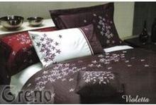 Pościel haftowana satynowa Violetta 160x200
