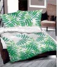 Pościel bawełniana Greenery 160x200 - w zielone liście paproci