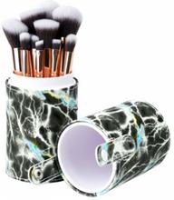Basics Makeup Brush Set Grey Marble 12 st