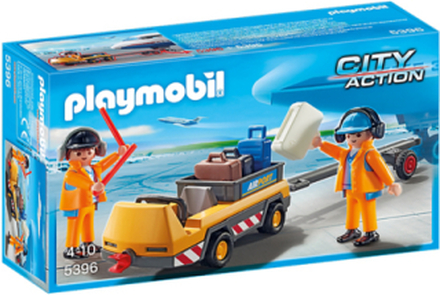 - City Action - Aircraft Tug with Ground Crew - 5396