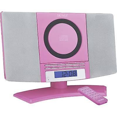 Denver MC-5220 lyd system AUX, CD, FM, veggfeste braketter rosa