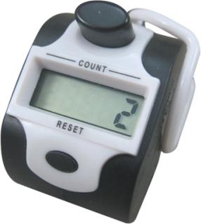 Handräknare med digitalt femsiffrigt räkneverk, Vit