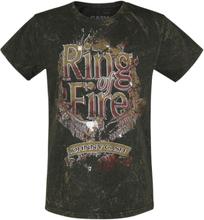 Johnny Cash - Gold Ring Of Fire Vintage -T-skjorte - svart, brun