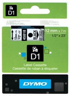 Dymo D1-merketape 12 mm Klar