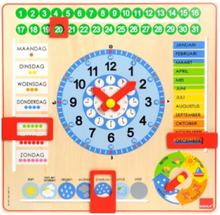 Goula Wooden Calendar Clock