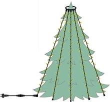 Julgransbelysning LED utomhus Varmvit (Längd: 15 - Meter)