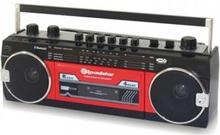 Roadstar RCR3025EBT Kassettbandspelare BT / Röd