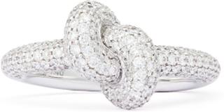 Ring Tight Knot Vitguld White Diamonds