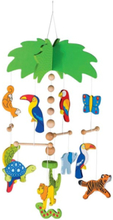 Wooden Mobile Palm Tree -