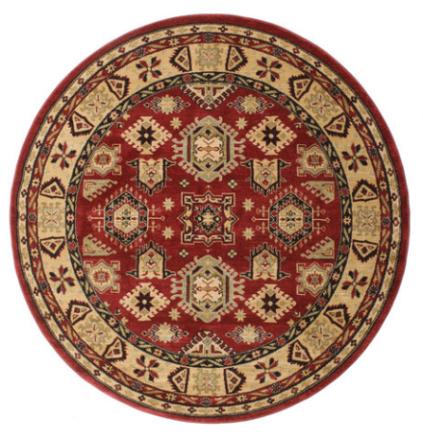 Shirvan Kazak matta Ø 200 Orientalisk, Rund Matta