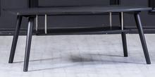 Louise soffbord ovalt med förvaring - Svartbetsad ek Med hjul