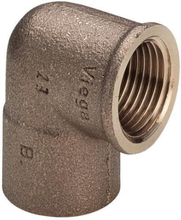 Loddefittings helbend 90º m/muffe 15mm 1/2""