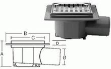 Purus komplet Afløbsskål t/Beton og klinkegulv 75 mm.