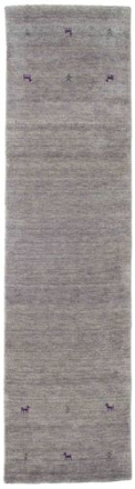 Gabbeh loom - Grå matta 80x300 Orientalisk, Avlång Matta