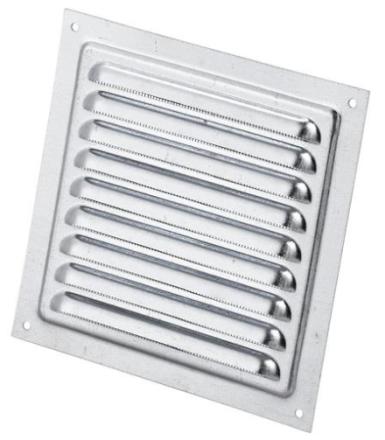 Duka Lamelldeksel 150x150 mm, Aluminium