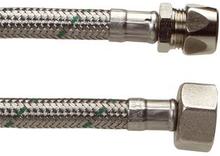 """Anslutningsslang rostfri stålfläta 1/2"""" - 10 mm. - 500 mm"""