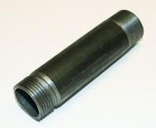 """Sort Nippelrør 1"""" - 100 mm"""