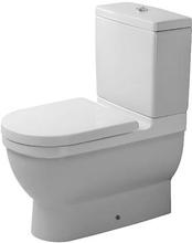 Duravit Starck 3 back-to-wall toalettskål m/wondergliss, hvit