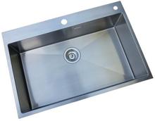 Prisma Indianapolis Køkkenvask 74x50 cm, m/Kurveventil, Rustfrit stål