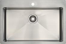 Lavabo Kubus 720 soft diskbänk 74x50 cm m/korgventil - Rostfritt stål