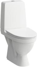 Laufen Kompas toilet m/skjult S-lås, limning, rengøringsvenlig, hvid