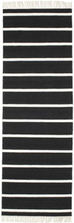 Dorri Stripe - Svart / White teppe 80x250 Moderne, Løpere Teppe