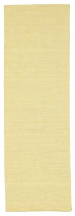 Kelim loom - Gul matta 80x250 Modern, Avlång Matta