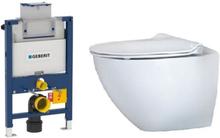 Komplett pakke m/Geberit Omega 82 cm sisterne, Ifö Sign Art toalett og softclose sete - uten betjeningsplate