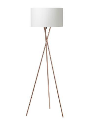 Nielsen Uptown Gulvlampe Hvit/kobber Ø45 cm