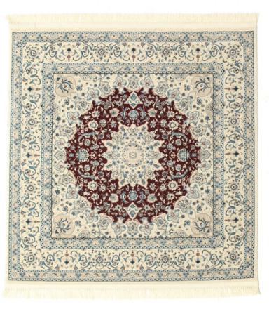Nain Emilia - Mörkröd matta 150x150 Orientalisk, Kvadratisk Matta