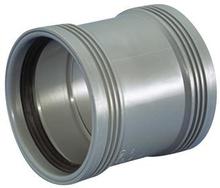 Wavin grå dobbeltmuffe 50 mm