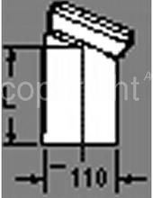 Klosetbøjning 22,5 grader 150 mm