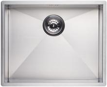 Lavabo Kubus 500 Kjøkkenvask 54x44 cm, m/Kurveventil, Rustfritt Stål