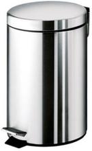 HeFe Papperskorg m/Pedal 7 Liter, Rostfritt stäl