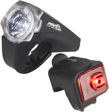 Red Cycling Products PRO 25 Lux Urban LED Lighting Set black 2020 Batteridrivna lampset