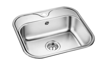 Prisma Phoenix Kjøkkenvask 55x49,8 cm, m/kurvventil, Rustfritt Stål